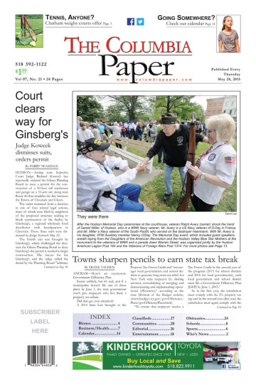 The Columbia Paper front page